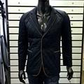 mais recente moda blazers para homens 2015 novo inverno azul trench coat para homens jaqueta acolchoada