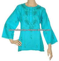 Exporter and Supplier of Stylish Lucknow Chicken Kurta / Tunics