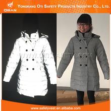Fábrica de la alta calidad fluorescente seguridad faux fur coat winter