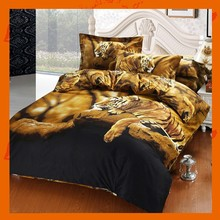 Full Printing 3D Bedding Sets Tigers Bed Sheet Duvet Cover Pillowcase 4pcs