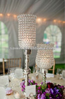 Indian wedding decoration centerpieces metal stand with crystal ZT-126C