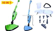 CE GS Rohs certification hot sell 10 in 1 steam mop x10 steam cleaner garment steamer