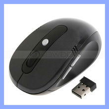 Custom 2.4G RF Optical Mouse Wireless USB Mouse with DPI Switch Black Mouse