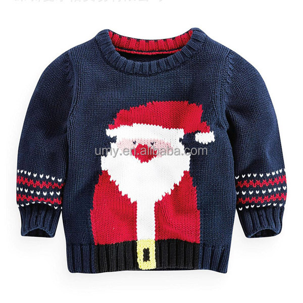 more information of baby boys christmas jumper sweater santa claus pattern funny baby sweater design