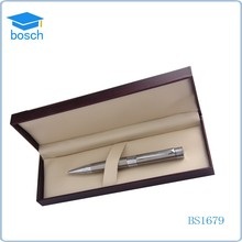 Engraved Glossy sliver Lacquer Ballpoint Pen and Mechanical pen Gift Set