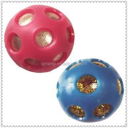 55mm Rainbow glitter air bouncing ball