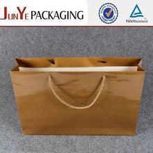 custom size flat brown logo sliver color paper gift bag canada