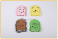 Microfiber cartoon cleaning gloves