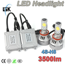 Newest 4S car headlight 38w 7000lm led headlight bulb h11 h8 h13 5 color changeable