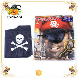 Pirate Play Set Eye Patch Scarf Earring eyepatch Toy