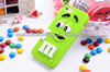 rainbow bean silicone phone case for iphone 5C