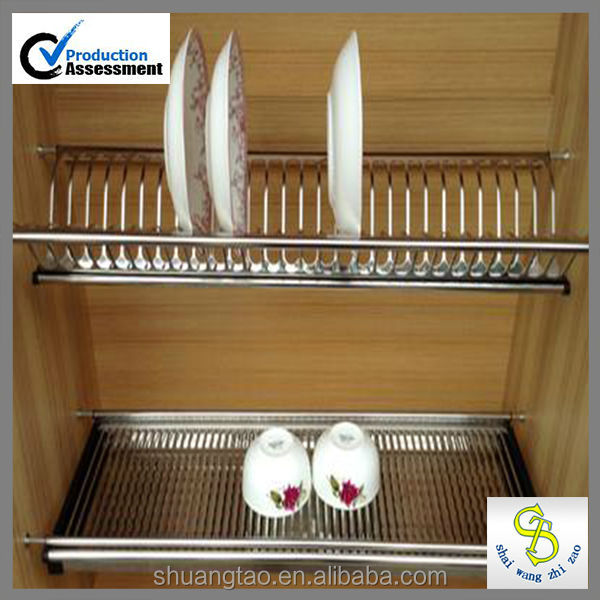 stainless steel 201 kitchen cabinet dish rack buy dish