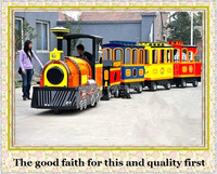 large amusement park rides outdoor tourist diesel trackless train