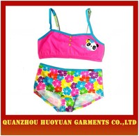 2015 spring and summer high quality sponge cartoon pure cotton children bra for girl export UK