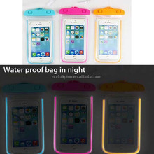 florescence light waterproof pouches for mobile phones
