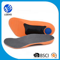 Orthotic Insole for Feet Arch with Hard PU Foam Shell and EVA