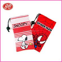 Single-drawstring Microfiber sunglass&eyeglass pouch, sublimation Eyeglass Pouch