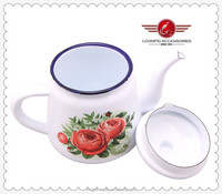 Nice Design With Decal Enamel Turkish Tea Water Kettle