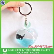 Acrylic liquid floater fashion key chain