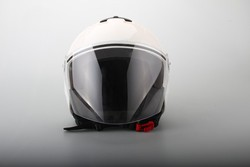 Jet helmet with ECE certification FS715 with sun visor White Color
