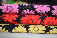 Newly Favourable Pearl Printed High Quality Check Flower Synthetic PVC leather for Bags,Decorative Case,ect