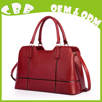 Professional factory supply trendy style purse and handbag red