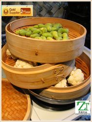 wholesale low price Wooden commercial electric stainless steel chinese bun steamer for Skewered Foods