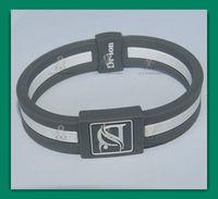 2013 new fashion negative ion hologram power band silicone energy bracelet