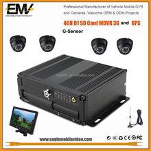 EMV Full D1 h.264 sd card gps 3G Mobile Dvr GPS G-Sensor 128GB Storage, taxi security camera system