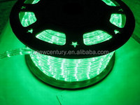 1.5m cut 13mm Max. 90m 45M/Roll 144W 4.8W PVC green LED ROPE LIGHT 36 CE RoHS for spain italy