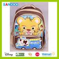 Venta caliente hermosa schoolbag, animales bolso de escuela, de dibujos animados lindo de nylon mochila para los niños