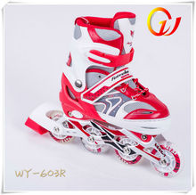 Recreational and fitness four PU or PVC light wheel inline skates professional