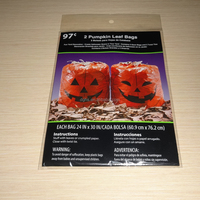 Giant Halloween gift bags plastic gift sacks in pumpkin design