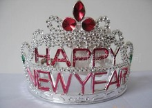 wholesale crystal full round crown tiara elegant happy new year christmas crowns and tiaras