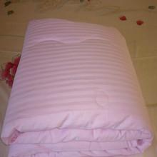 100% Mulberry silk satin stripe comforter/bed sheet sets supplier(Fill 1.5 kg)