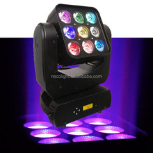 9*10W 3x3 RGBW 4IN1 Led Disco Moving Head Light Matrix LED