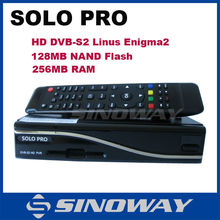 version 2 SOLO PRO HD satellite receiver DVB-S2 single tuner Enigma 2 Linux OS set top box solo pro v2
