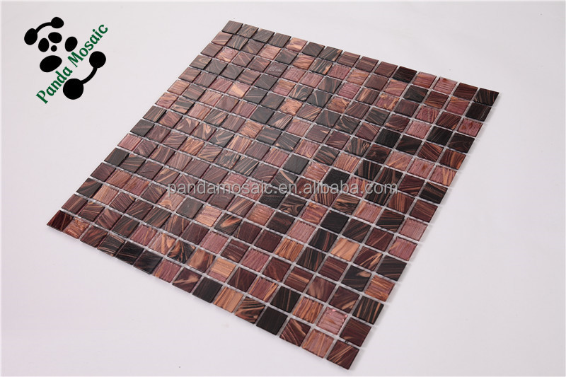 Mo smh05 vitrifi s carrelage dosseret de verre haut de gamme d cor mosaic bru - Carrelage mosaique pas cher ...