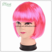 Wholesale factory price Fashion Colorful Synthetic hair hair extension Halloween wigs Party wigs Christmas wigs