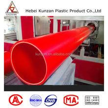 Orange Heavy Duty PVC Electrical Conduit hot melt connection pipe