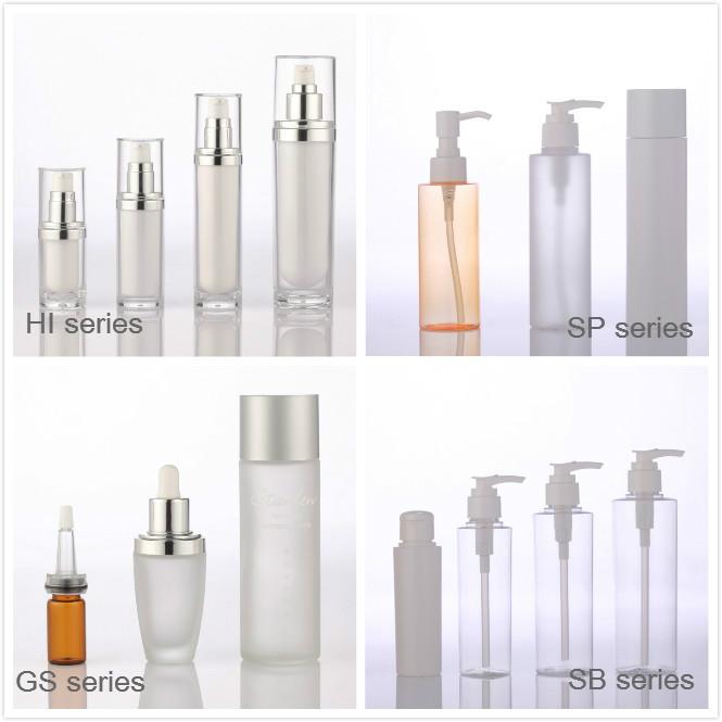square acrylic cosmetic cream jars