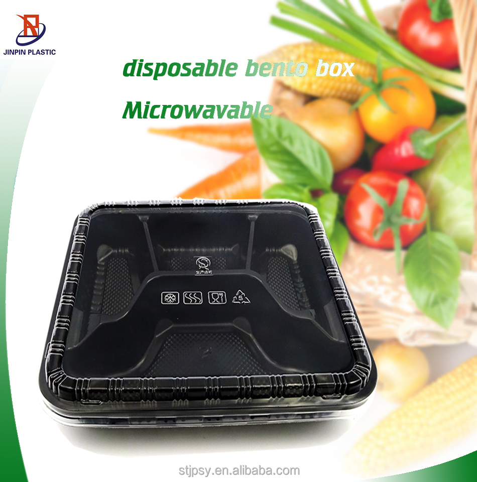 4 compartment disposable plastic take away bento lunch box. Black Bedroom Furniture Sets. Home Design Ideas