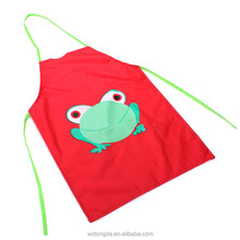 Customized Logo Printing Pocket Available Children Painting Cotton Kids Apron