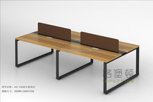 4 persons wooden office workstations design cubicle