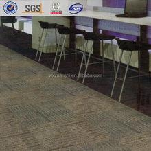 DA300 PVC backing felt 50*50 carpet tiles for office, 6 colors stripe pattern stock carpet tile