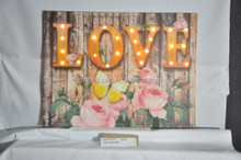 High quality Light up led canvas painting