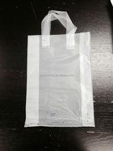 Shandong supplier soft loop handle packaging plastic bag