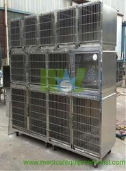 Modular stainless steel dog cage MSLVC01