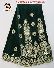 newest style design fashion African velvet lace for clothes of VE10022