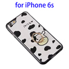 OEM Service Cute Cartoon Pattern TPU and PC Case Cover for iPhone 6s with Ring Holder